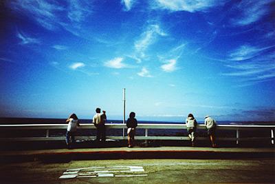 looking at ocean