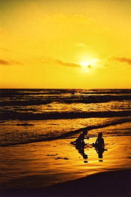 orange ocean