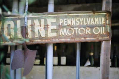 rust + motor oil