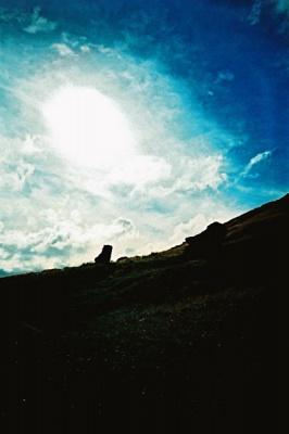silhouette of the moai #2