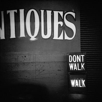don't walk or walk?