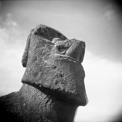 the moai close up