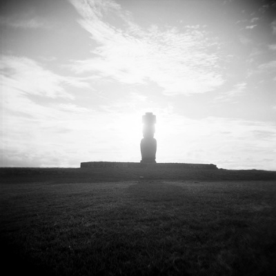 silhouette of the moai #1