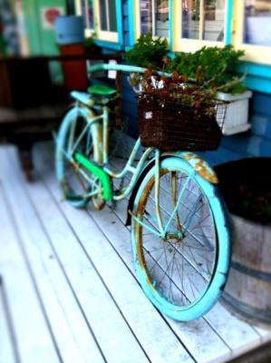 old bike in color