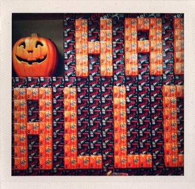 halloween soda wall