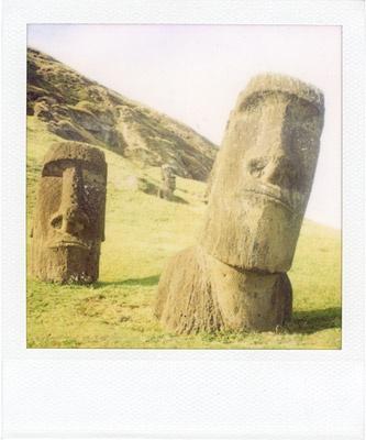 the moai: pola vs lomo vs holga #1