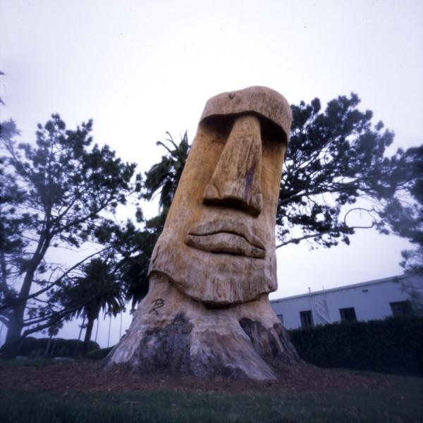 Wooden Moai