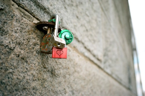 Heart Lock at the Brooklyn Bridge #1