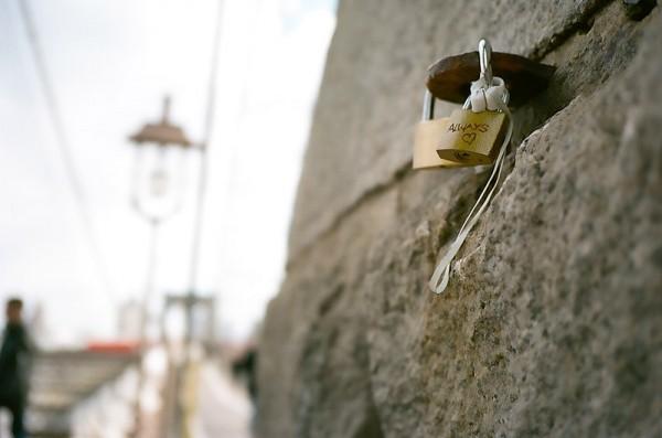 Heart Lock at the Brooklyn Bridge #2