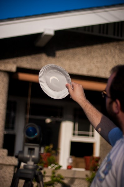 Solar Eclipse on a Paper Plate